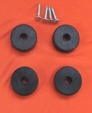 16 x LARGE 10mm.  x 37mm. RUBBER FEET + FITTING SCREWS - AMPLIFIERS CASES