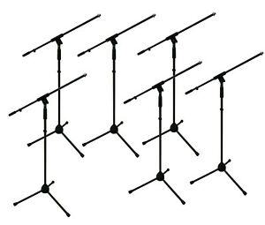 6x Soundking DD008 professional quality microphone boom stands, metal - BULK BUY