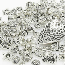 Bastelset Metallperlen Mix 131 St. Metall Beads Perlen silber antik -293