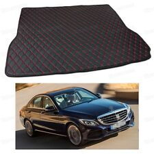 PU Leather Car Trunk Mat Cargo Pad Carpet for Mercedes-Benz C-Class 2015-2017