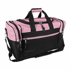 "DALIX 17"" Womens Pink Duffel Bag Travel Overnight Gym Sports Duffle Girls Yoga"