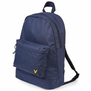 Lyle & Scott Unisex School Bag Smart Backpack Holiday Bag 22L Navy