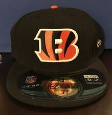 Size 7 3/4 or 61.5cm New Era Onfield Cincinnati Bengals Fitted Hat NFL org/blk