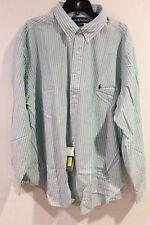 Mens Big & Tall 3XB Ralph Lauren Polo Shirt Long Sleeves Stripe Classic Fit NWT