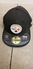 Pittsburgh Steelers kids NFL New Era  5950 On-field  fitted  hat  6 1/2 black