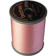 Hermano Acabado Satinado hilo de bordar. 300m Carrete salmón rosa 079