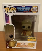 Groot Guardians Of The Galaxy Volume 2 Funko Pop #208 Hot Topic Exclusive