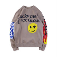 KSG FREEEE Kanye West Kid Cudi Kids See Ghosts Sweatshirt Kendall Jenner Smile