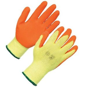 Gardening Gloves Latex Coated Gripper Gloves For DIY Building 4 Sizes Available