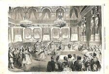 Bal Costumé au Palais des Tuileries Danse des Abeilles Paris 1863 ILLUSTRATION