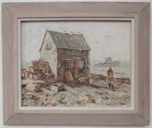 Richard Sigafoos Listed Rockport Maine New England Artist Jonesport ME Painting!