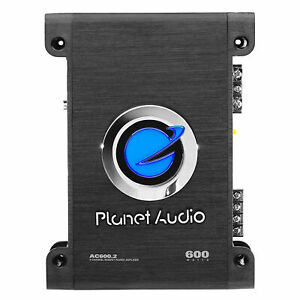 Planet Audio AC600.2 600W 2 Channel MOSFET Class A/B Power Stereo Car Amplifier