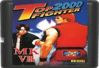 Top Fighter 2000 16 Bit Game Card For Sega Genesis / Mega Drive System