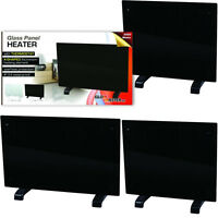 Panel Heater Radiator Black Portable Slimline Heating Wall Mounted Free Standing