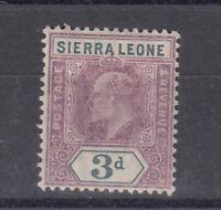 Sierra Leone KEVII 1905 3d Chalk SG91 MH Cat £55 J5199