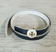 """Tory Burch 1"""" Reversible Classic Logo Belt Size S with free gift"""