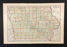 New Listing1915 Cram Map of Iowa. 15 x 22-1/2 inches. Good condition - See Pics.