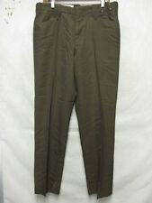 D6798 Ep Ro Brown Wool Blend Vintage 60's High Grade Pants Men's 35x31