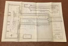 1910 Panama Canal Diagram of Stoney Gate Valves Machinery for Locks Assembly