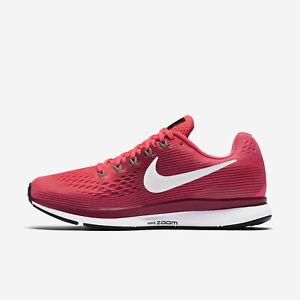 Women's Nike Air Zoom Pegasus 34 Sz 9 Racer Pink Grey 880560-605 FREE SHIPPING