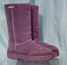 "Nice Purple Suede BEARPAW 11"" Shearling Lined Boots Sz 7"