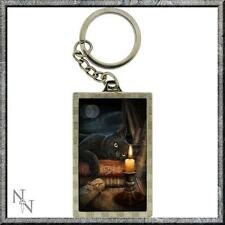 The Witching Hour 3D key ring by Lisa Parker black cat fantasy pagan wiccan gift