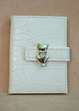 Russ - Photo/Credit Card Holder - White with Cat  Clasp