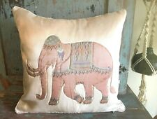 BOHO HIPPIE ELEPHANT BEJEWELED PILLOW COVERS SET OF (4) SQUARE PILLOWS COVERS