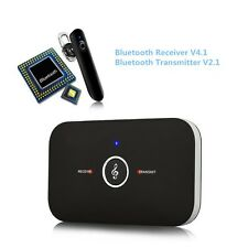 2in1 Bluetooth Transmitter+Receiver for Car Home Audio Speaker System AUX Cable