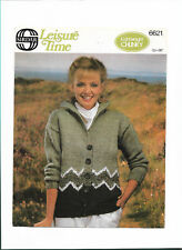 Vintage Sirdar 6621 ladies fairisle chunky jacket knitting pattern