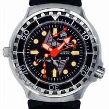 FLY-BACK GMT; DAY; COMBAT-DIVER 100ATM HELIUM-SAFE T0247
