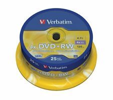 Verbatim 25 DVD+RW DVD Blank Rewritable Discs 25 Pack