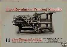 1914 -  TWO REVOLUTION  PRINTING MACHINE . PRINT !