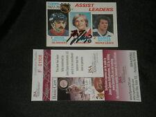 GUY LAFLEUR 1978-79 TOPPS LEADERS SIGNED CARD #64 JSA