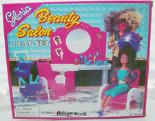 NEW GLORIA DOLLHOUSE FURNITURE SIZE Beauty Salon MIRROR & CHAIR SET FOR BARBIE