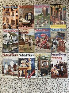 Nutshell News Lot Of 12 1991 Dollhouse Miniatures