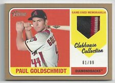 2018 Topps Heritage High Paul Goldschmidt Clubhouse Collection Relic Gold 81/99