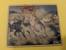 "Original Lone Ranger Trading Card #11 ""The Run-Away Herd"""