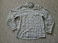EUC Rare Simms Cor3 Yellowstone Club Pearl Snap Fly Fishing Shirt Tan Large L