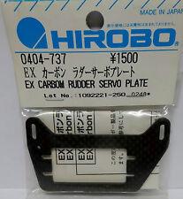HIROBO 0404-737 EX Heckservo Halterung Platte Karbon CARBON RUBBER SERVO PLATE