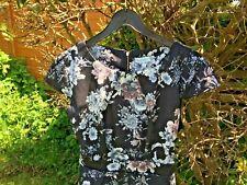 BLUE VANILLA  black / light colours sleevesless dress UK14 - L - BNWT -