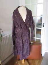 VTG 60s ROBERT FULLER BLUE RED PAISLEY CHECK SMOKING JACKET DRESSING GOWN M-L