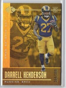 2019 Illusions Darrell Henderson Gold Rookie SP /399 No. 98 Rams!