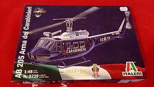 Italeri - AB 205 Arma Dei Carabinieri - Model Plastic Kit -1:48, No2739 Military