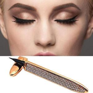 Lady Self-adhesive Magic Eyeliner 2 in 1 Lash Glue Liner Rhinestones Pen Gift