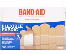 BAND-AID Flexible Fabric Adhesive Bandages Assorted 100 ea Damaged box