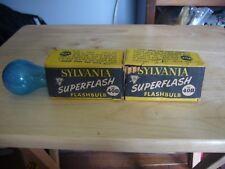 Lot of 2 Sylvania Flashbulbs 40B Blue Dot Flashbulbs