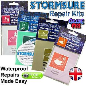 Stormsure Waterproof Flexible Outdoor Repair Kit Car Boots Pool Waders Tent Shoe