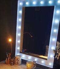 Hollywood 24 Bright LED Bulb Gloss White Finish Make Up Mirror 80 X 60 BN