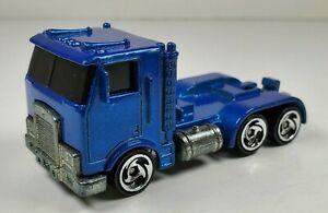 Hot Wheels Blue Semi Cab 1986 1:64 Scale Diecast Vehicle Malaysia